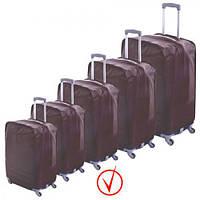 """Чехол для чемодана """"Safety"""" R17802 полиэстер, 24 дюймов, водоотталкивающий материал, отверстия для колес, застежка-липучка, защитный чехол для"""