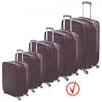 """Чехол для чемодана """"Safety"""" R17803 полиэстер, 26 дюймов, водоотталкивающий материал, отверстия для колес, застежка-липучка, защитный чехол для"""