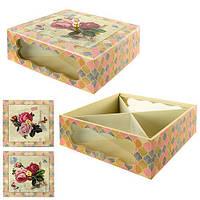 """Шкатулка """"Розы"""" R21915, с ячейками 25*25*9см, шкатулка для хранения, шкатулка для хранения украшений, шкатулочка женская"""