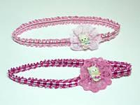 Повязка для волос, розовая, кити(6 шт) 11_2_30