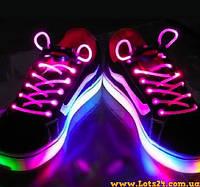Светящиеся шнурки для обуви (розовые, LED) + батарейки CR2032
