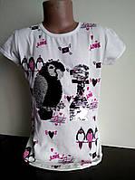 Футболка  для девочки  Попугай, пайетки меняют цвет 7-8лет, фото 1