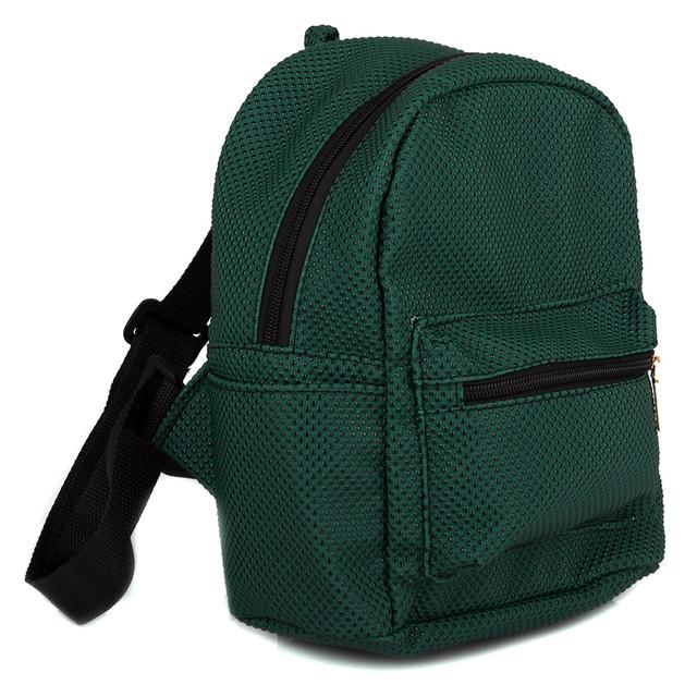 женский зеленый рюкзак
