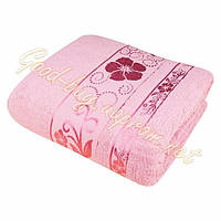 Махровая простынь Merzuka Exclusive Розовый Хлопок Турция