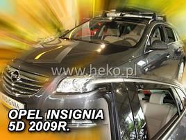 Дефлекторы окон (ветровики)  OPEL INSIGNIA 09-17Combi(HEKO)