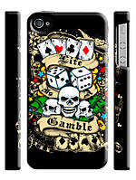 Чехол  для iPhone 4/4s ed hardy покер
