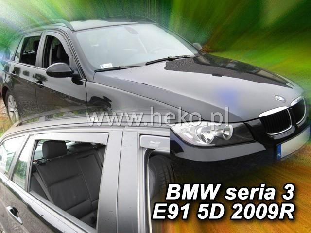 Дефлекторы окон (ветровики) BMW 3 seria 2005-> (E91) Combi 4шт(Heko)