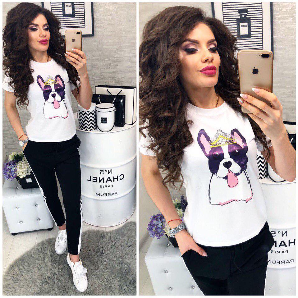 Хит сезона!Модная женская футболка со стильным рисунком