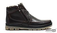 Мужские зимние ботинки. Кожа. Цвет черный, коричневый