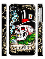 Чехол  для iPhone 4/4s ed hardy череп