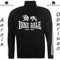 Кофта свитшот толстовка Lonsdale мужская для тренеровок | Кофта світшот Lonsdale чоловіча чорна