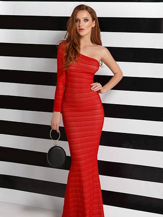 Лаконічне плаття-годе червоне розмір 42,44,46, фото 2