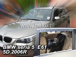 Дефлекторы окон (ветровики) BMW 5 seria 2004->2010 (E61) Combi 4шт(Heko)