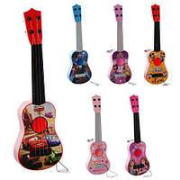 Гитара детская 32см, струны 4шт, 6 видов (СП,ТЧ,DSF,DSM,BR,HK) в кульке