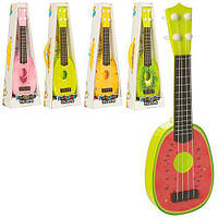 Гитара детская струны, 5 видов (фрукты) в коробке