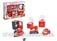 Набор детской бытовой техники: утюг, пылесос, холодильник, стиральная, швейная, мультиварка, свет, звук