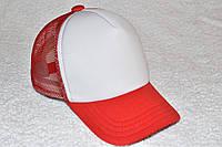 Кепка базовая красная с белым, фото 1