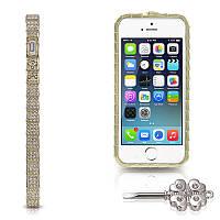 Бампер для Iphone 5 Metal Secret with Diamonds