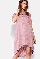 Вискозное женское платье с удлиненной спинкой (Corsa crd)