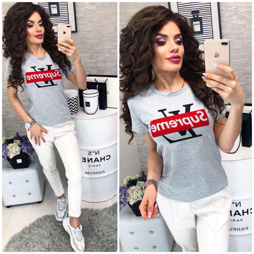 Модная женская футболка в стиле LV