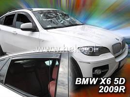 Дефлекторы окон (ветровики) BMW X6 (F16) 5D 2007R->.  4шт(Heko)