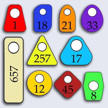 Гардеробные номерки для ключей