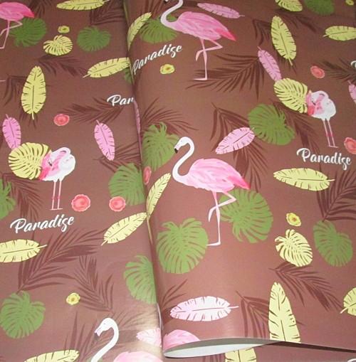 Бумага упаковочная Фламинго 52*75 см, шоколадная