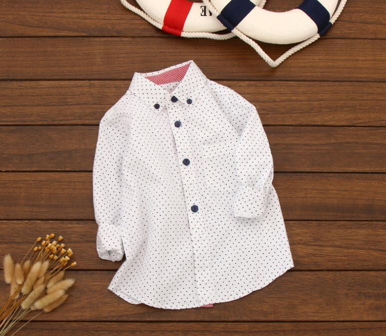 Рубашка Горох удлиненная (бел) 98,110,128