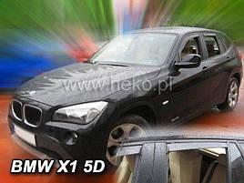 Дефлекторы окон (ветровики) BMW X1 2009-2016 5D 4шт(Heko)
