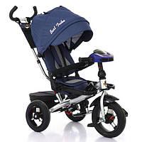 Велосипед трехколесный BestTrike 6088-2230 надувные колёса, поворотное сидение, фара, пульт, складной руль