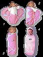 """Пеленка-конверт """"Deep Sleep Flannel"""" розовый, фото 2"""