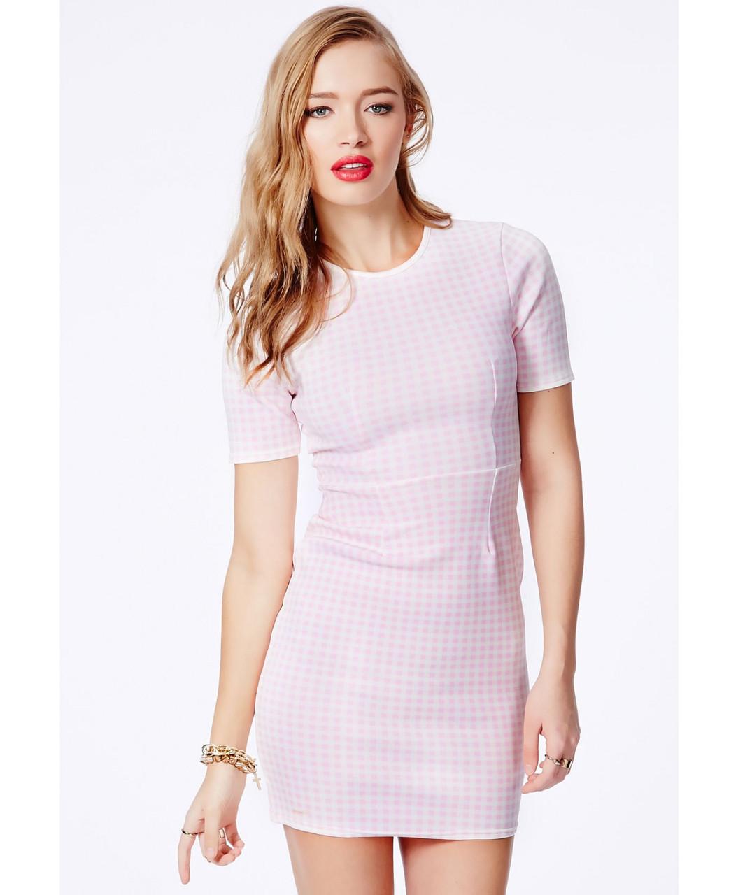 Новое облегающее платье в клеточку Missguided