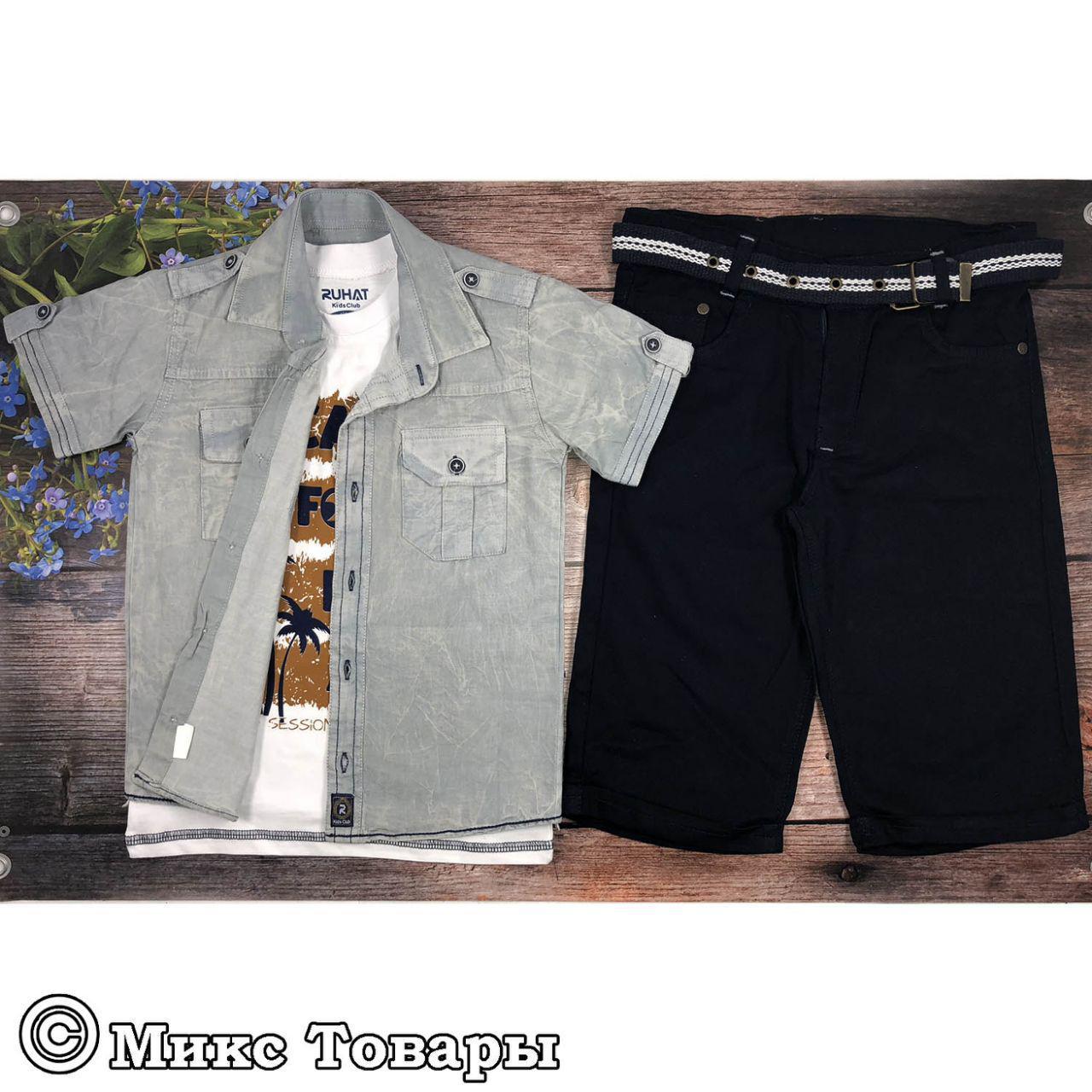 Летний костюм тройка для мальчика Размеры: 116,122,128,134 см (6431-1)