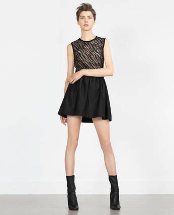 Новая черная юбка Zara, фото 2
