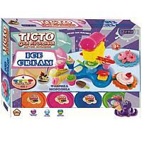 Набор для лепки Фабрика мороженого, 4 цвета, аксессуары для приготовления мороженного, ОКТО