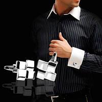 Запонки Геометрический квадрат - для стильных и молодых людей
