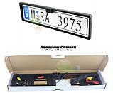 Європейська рамка для автомобильного номера з камерою, фото 3