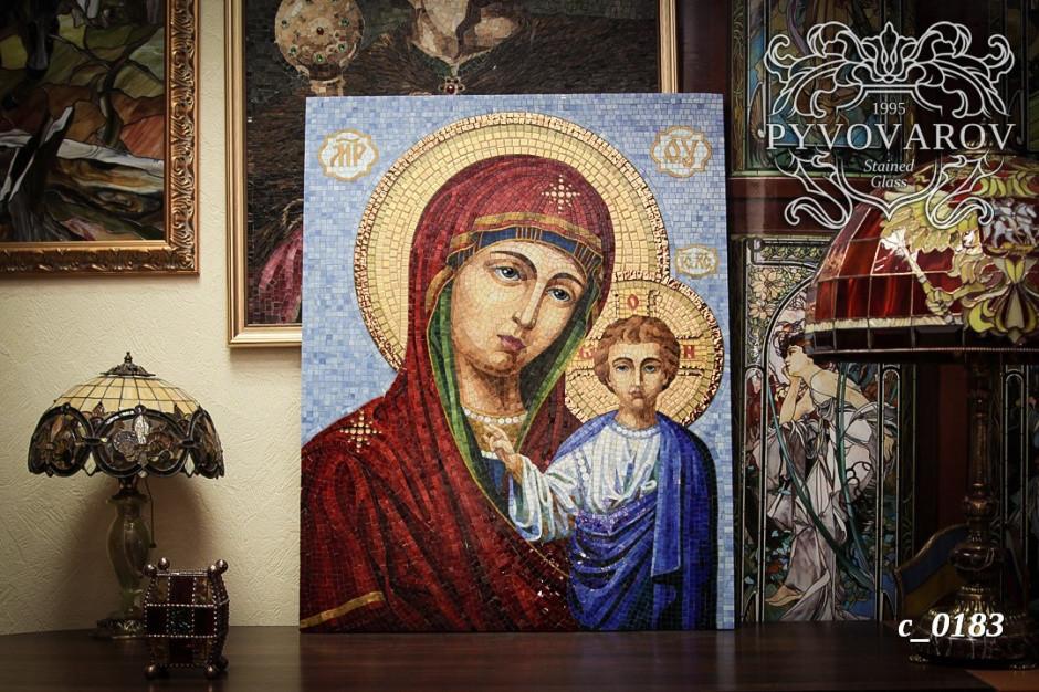 Икона Божией Матери из мозаики