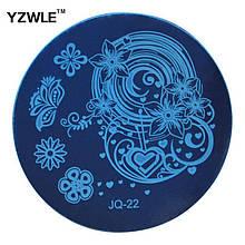 Трафарет для стемпинга нігтів JQ-22