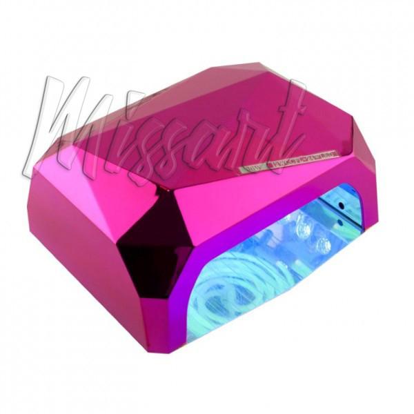 Гибридная лампа для гель лака Кристалл CCFL+LED 36 вт малиновая