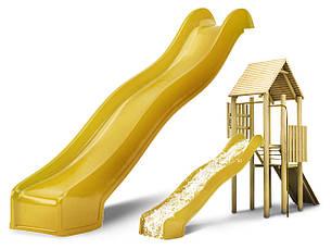Горка спуск для детей Hapro 3 м. (Желтая), фото 2