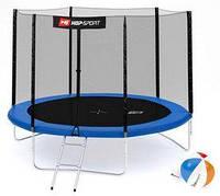 Батут с внешней сеткой 3 ноги Hop-Sport 10ft синий, 305 см
