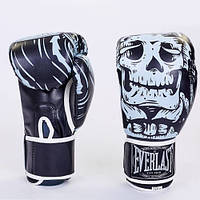 Боксерские перчатки FLEX на липучке ELAST SKULL BO-5493-BK