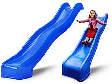 Горка для детских площадок Hapro 3 м. (Синяя), фото 2