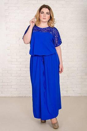 10ba85f0ed1 Летнее платье большого размера Версаль с поясом и с гипюром 52-62 р ...