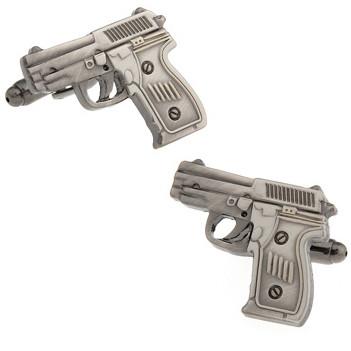Запонки пистолет для пацанов хулиганов стиль casual