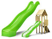 Горка спуск для детской площадки Hapro 3 м. (Салатовая)