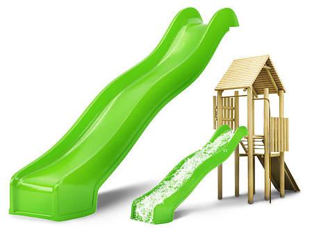 Горка спуск для детской площадки Hapro 3 м. (Салатовая), фото 2