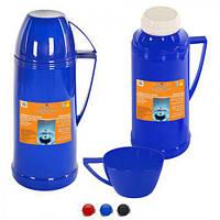 "Термос Stenson ""Azalea"" DB208 со стеклянной колбой и чашка, 1л, термокружки, термос, термочашки, техника в кухню"