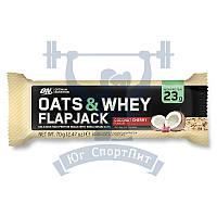 Optimum Nutrition Oats & Whey Flap Jack протеиновый батончик перекус спортивное питание